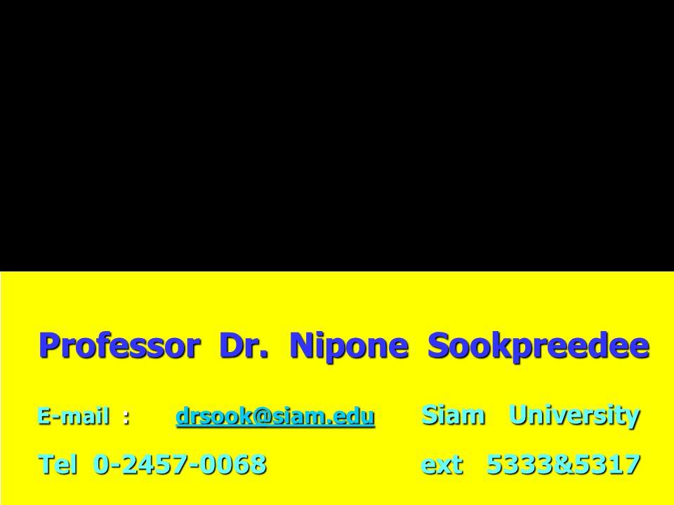 Professor Dr.Nipone Sookpreedee Professor Dr.