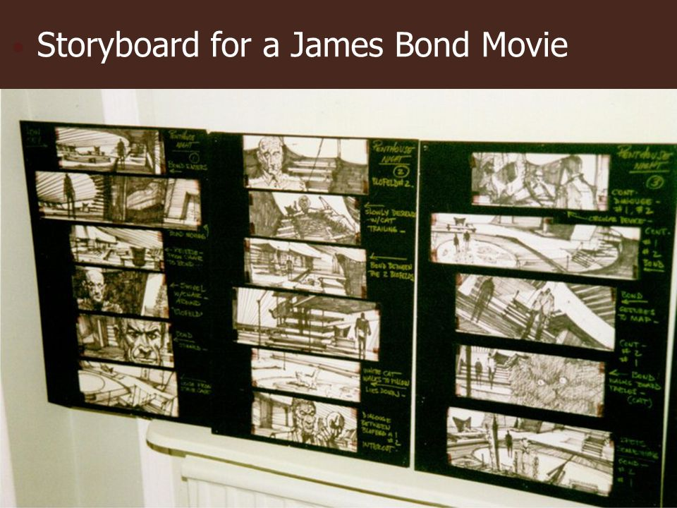 Storyboard for a James Bond Movie