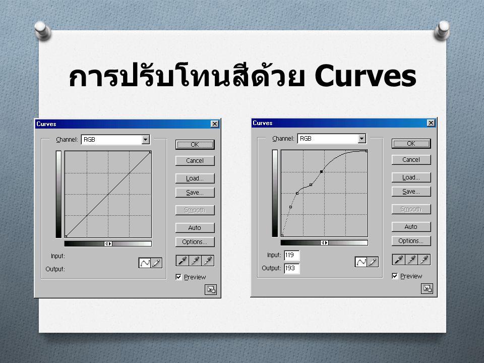 ตัวอย่าง  ภาพต้นฉบับ  ภาพหลังปรับด้วย Curves