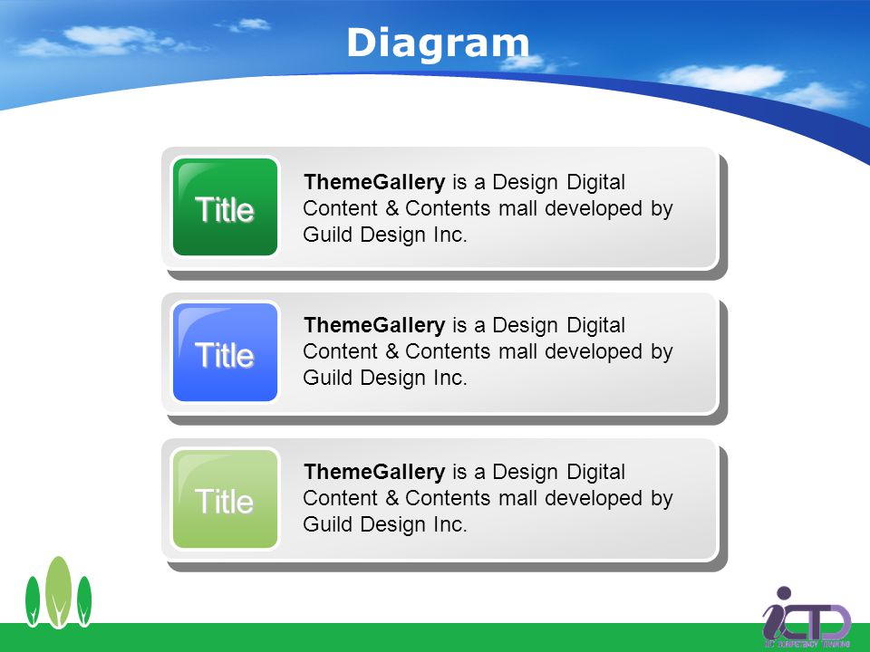 Diagram Title ThemeGallery is a Design Digital Content & Contents mall developed by Guild Design Inc.