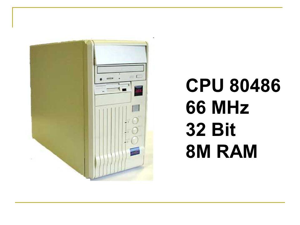 CPU 80486 66 MHz 32 Bit 8M RAM