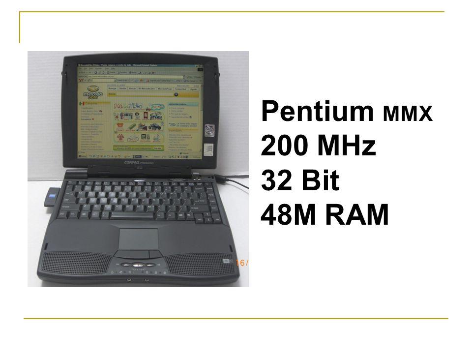 Pentium MMX 200 MHz 32 Bit 48M RAM