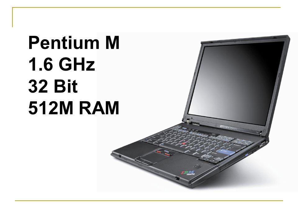 Pentium M 1.6 GHz 32 Bit 512M RAM