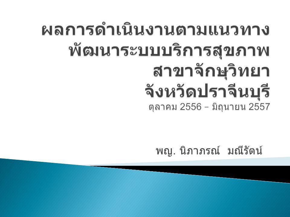  ลดอัตราตาบอดในประเทศไทย ให้ต่ำกว่าร้อยละ 0.5  ลดระยะเวลารอคอยผ่าตัดต้อกระจก  ประชาชนสามารถเข้าถึงบริการทางจักษุ ทั้งการคัดกรอง รักษาส่งเสริม ป้องกัน และฟื้นฟู ในสถานบริการสุขภาพทุกระดับตามเกณฑ์ มาตรฐาน  ลดการส่งต่อโรคทางจักษุออกนอกเครือข่ายบริการ สุขภาพ