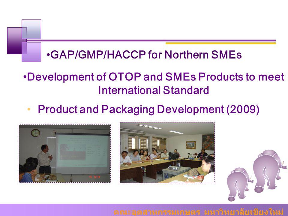 คณะอุตสาหกรรมเกษตร มหาวิทยาลัยเชียงใหม่ GAP/GMP/HACCP for Northern SMEs Development of OTOP and SMEs Products to meet International Standard Product a