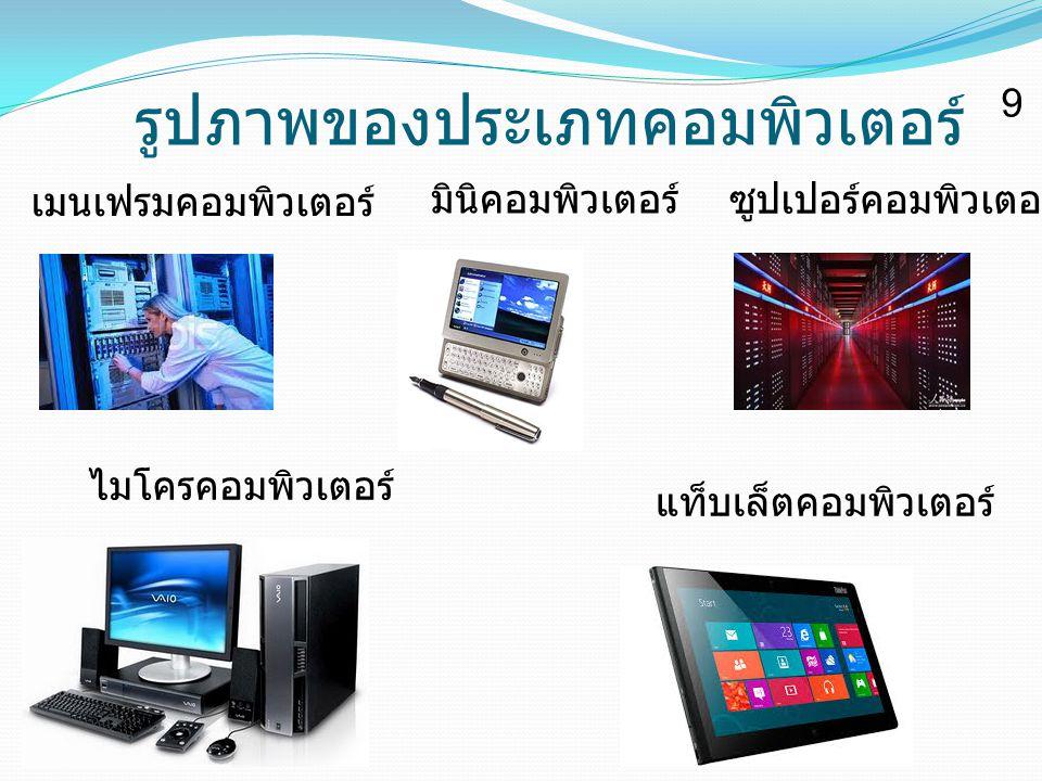 รูปภาพของประเภทคอมพิวเตอร์ ซูปเปอร์คอมพิวเตอร์ เมนเฟรมคอมพิวเตอร์ มินิคอมพิวเตอร์ ไมโครคอมพิวเตอร์ แท็บเล็ตคอมพิวเตอร์ 9