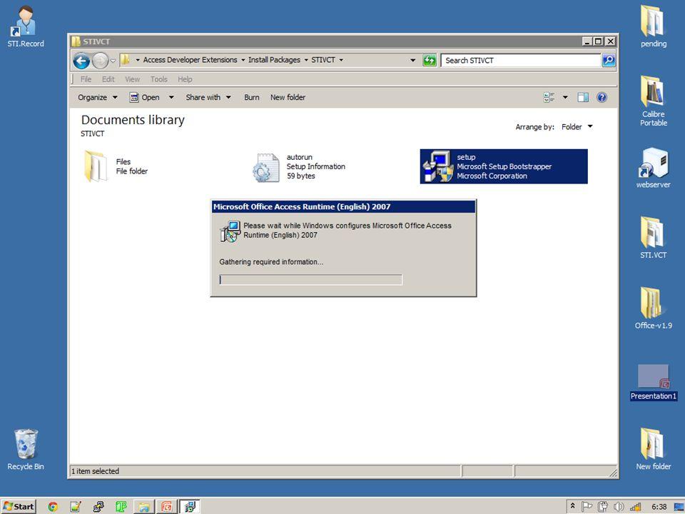 การติดตั้งAccess Runtime เสร็จ สมบูรณ์