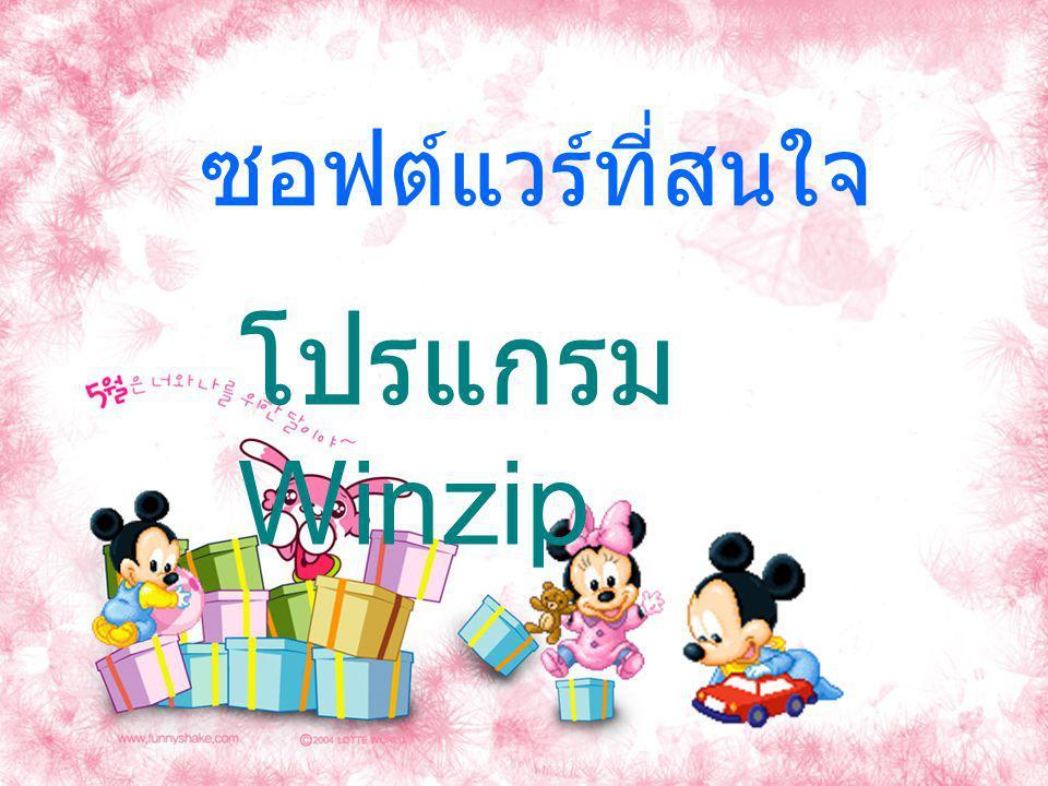 ซอฟต์แวร์ที่สนใจ โปรแกรม Winzip