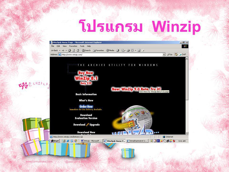 โปรแกรม Winzip