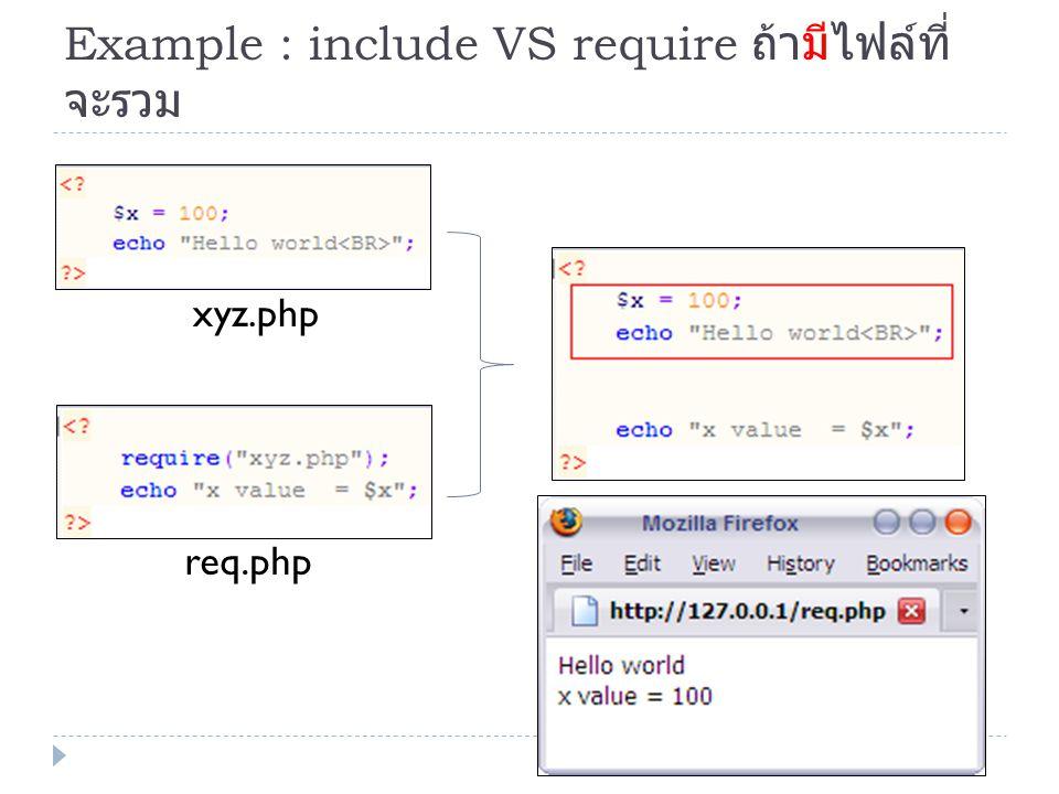 การประยุกต์ใช้งาน include, require Leftmenu.html main.phplink.php