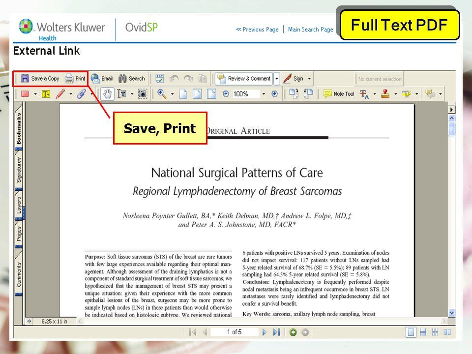 Full Text PDF Save, Print