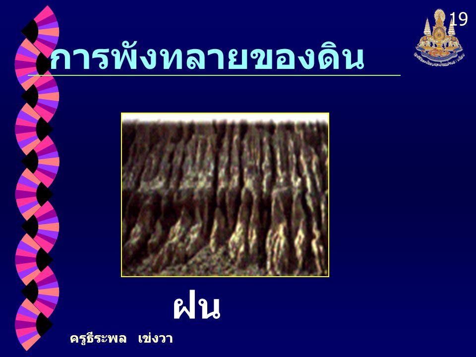 ครูธีระพล เข่งวา 19 การพังทลายของดิน แรง ฝน