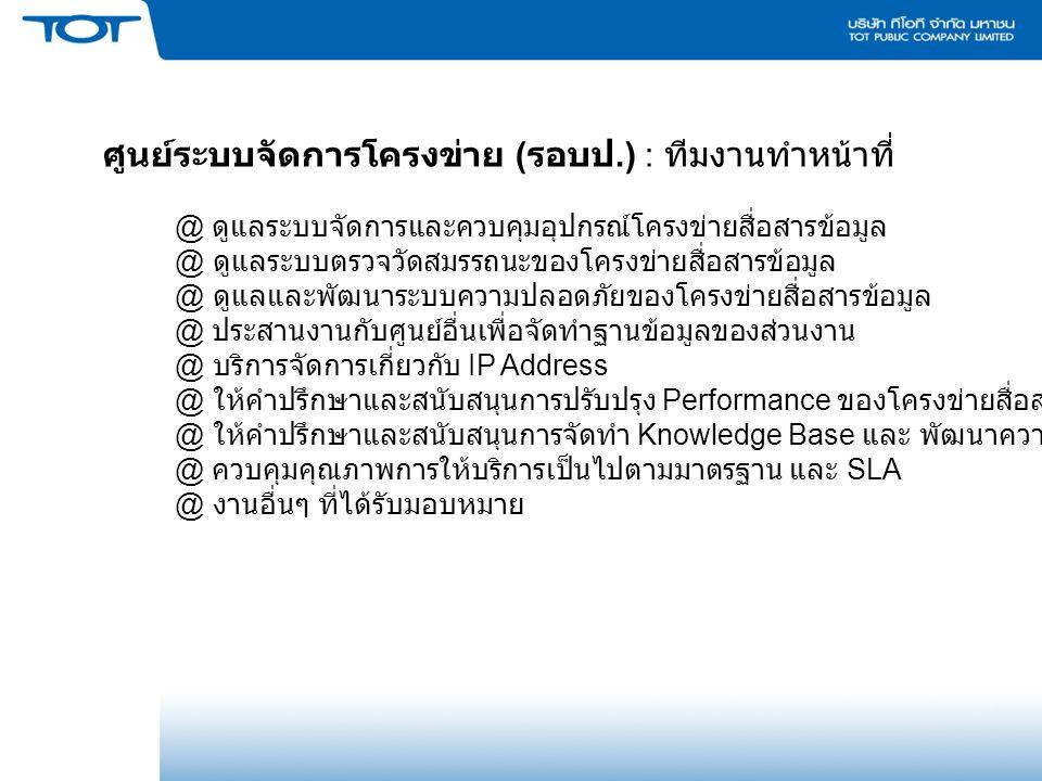 Report : Throughput/Availability