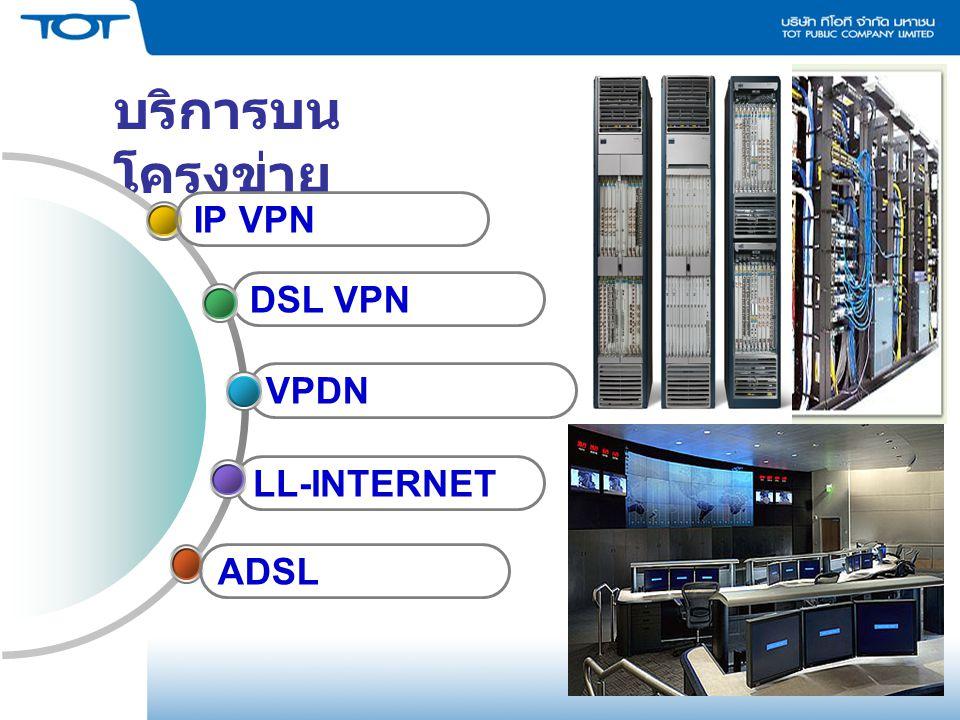 บริการบน โครงข่าย LL-INTERNET VPDN DSL VPN IP VPN ADSL