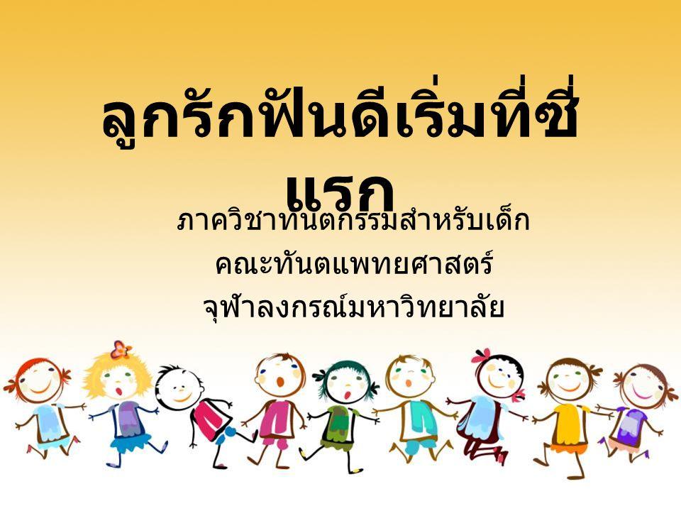 วัตถุประสงค์ 1. ผลกระทบของโรคฟันผุใน เด็กเล็ก