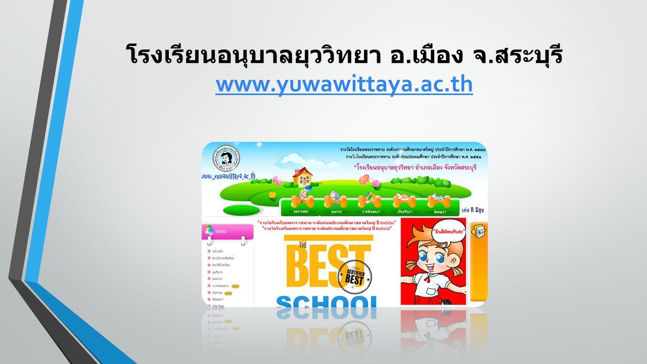 โรงเรียนอนุบาลยุววิทยา อ. เมือง จ. สระบุรี www.yuwawittaya.ac.th www.yuwawittaya.ac.th