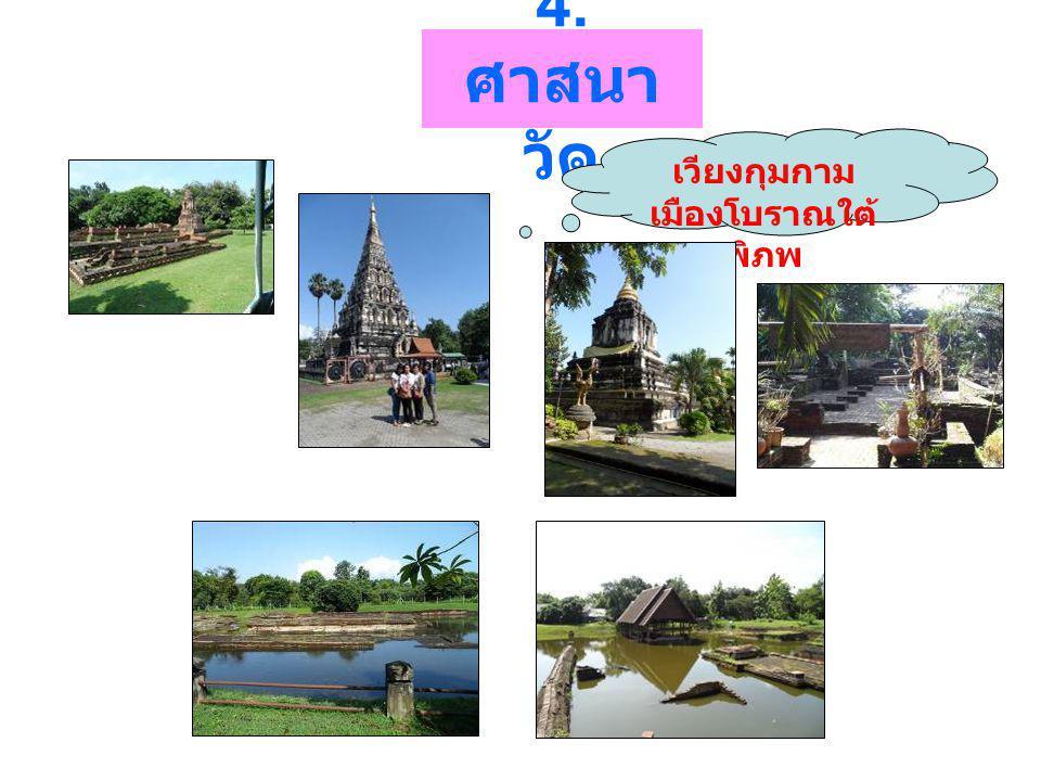 4. ศาสนา วัด เวียงกุมกาม เมืองโบราณใต้ พิภพ