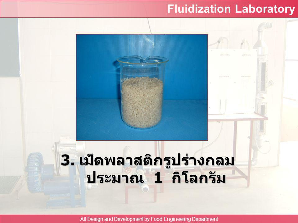 Fluidization Laboratory All Design and Development by Food Engineering Department 2. ขวดหาความ ถ่วงจำเพาะ