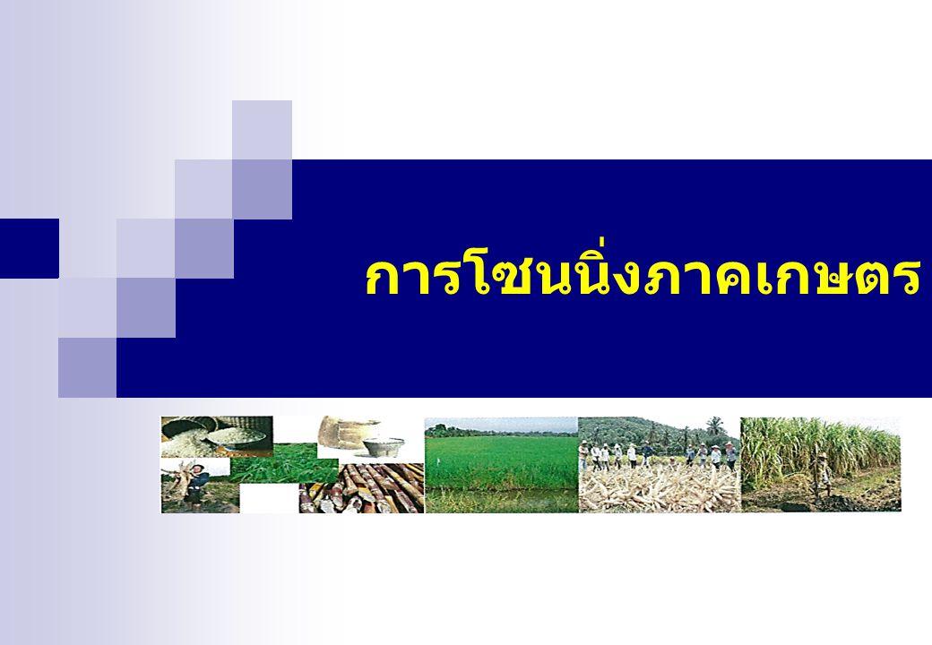 การโซนนิ่งภาคเกษตร