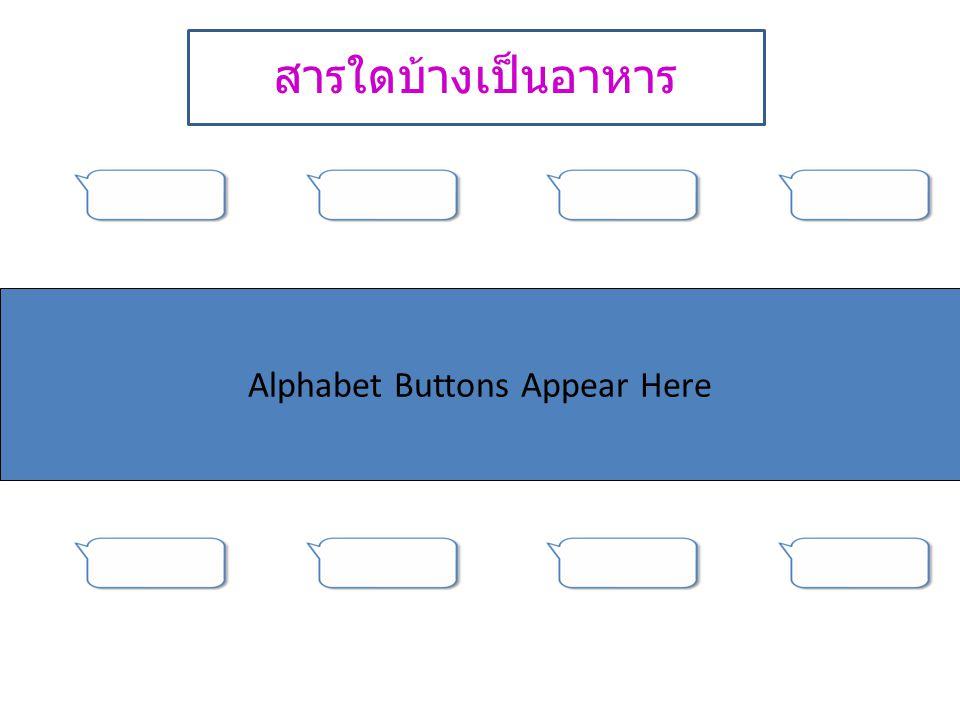 Alphabet Buttons Appear Here สารใดบ้างเป็นอาหาร