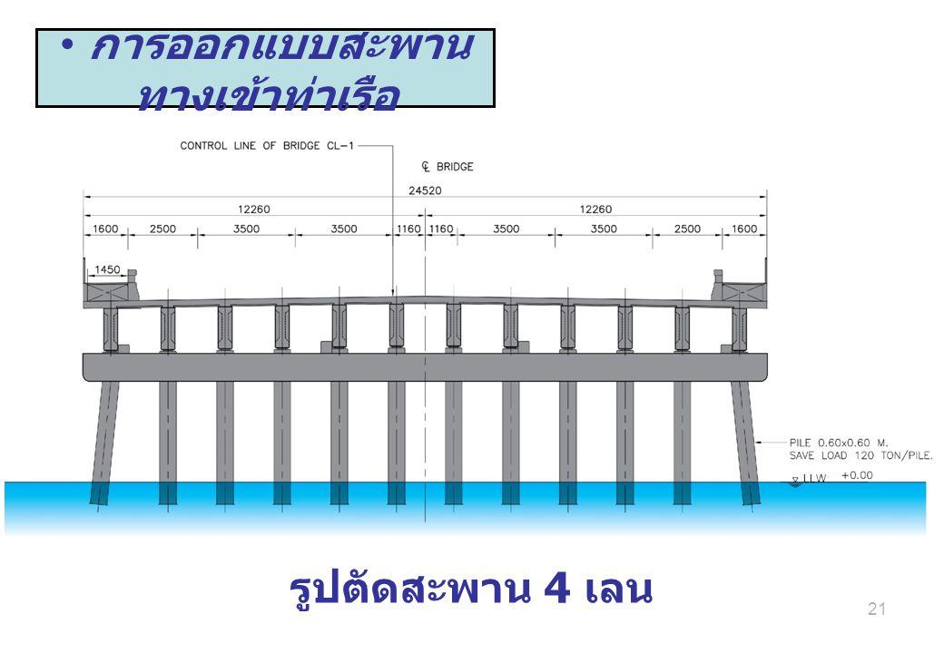 21 รูปตัดสะพาน 4 เลน การออกแบบสะพาน ทางเข้าท่าเรือ LLW