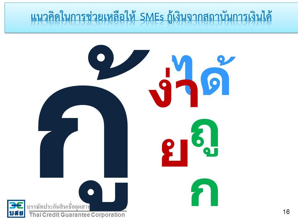 บรรษัทประกันสินเชื่ออุตสาหกรรมขนาดย่อม Thai Credit Guarantee Corporation กู้ ได้ ง่า ย ถู ก 16