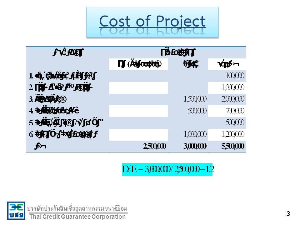 บรรษัทประกันสินเชื่ออุตสาหกรรมขนาดย่อม Thai Credit Guarantee Corporation 3