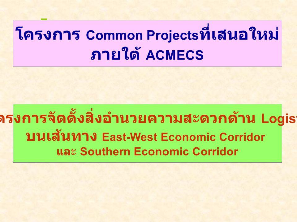 Priority Transport Corridors in the GMS -East-West Economic Corridor (Mawlamyine- MaeSod- Mukdahan- Savannakhet- DongHa- Danang) -Southern Economic Co