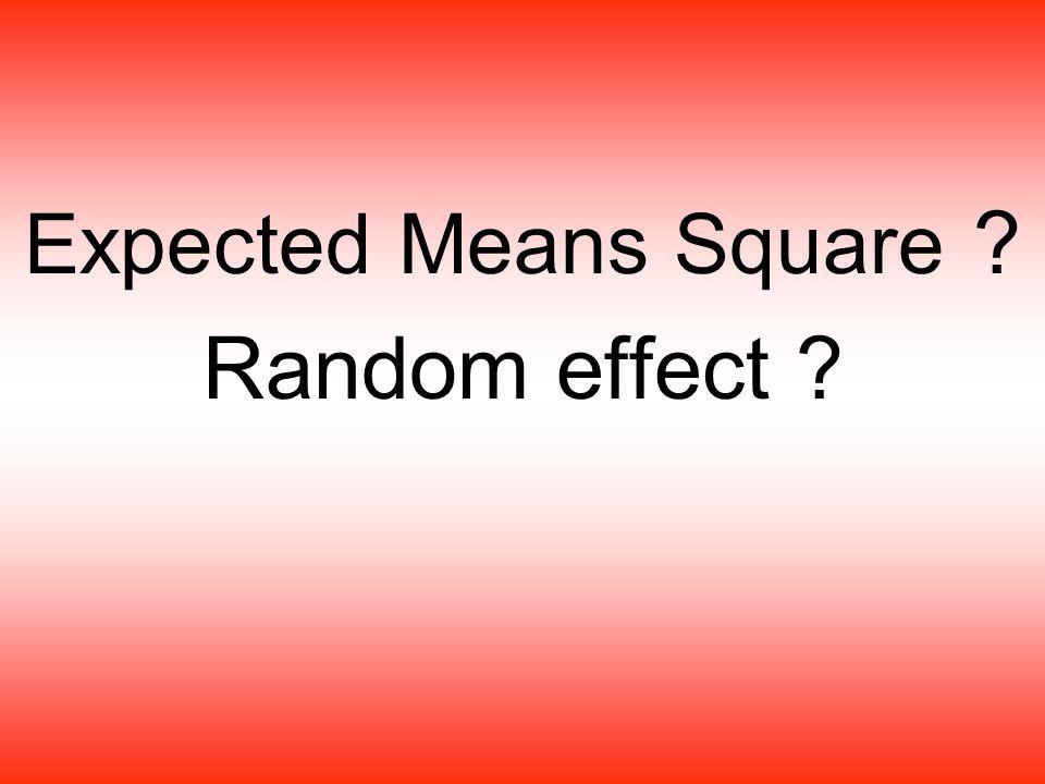 Objective นศ.สามารถบอกความหมายของค่า expected means square และค่า random effect ได้ นศ.