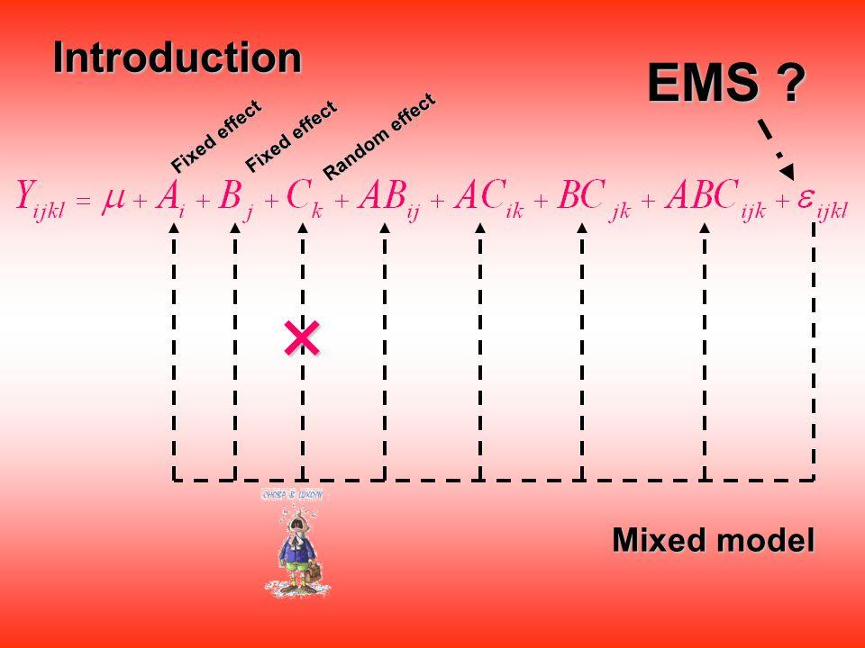 ดังนั้น ค่า EMS ที่ได้จากวิธี Steel and Terry จึงนิยม เรียกว่า ค่า EMS ที่ได้จากวิธี Steel and Terry จึงนิยม เรียกว่า restricted model ค่า EMS ที่ได้จากวิธี Hocking จึงนิยมเรียกว่า ค่า EMS ที่ได้จากวิธี Hocking จึงนิยมเรียกว่า unrestricted model
