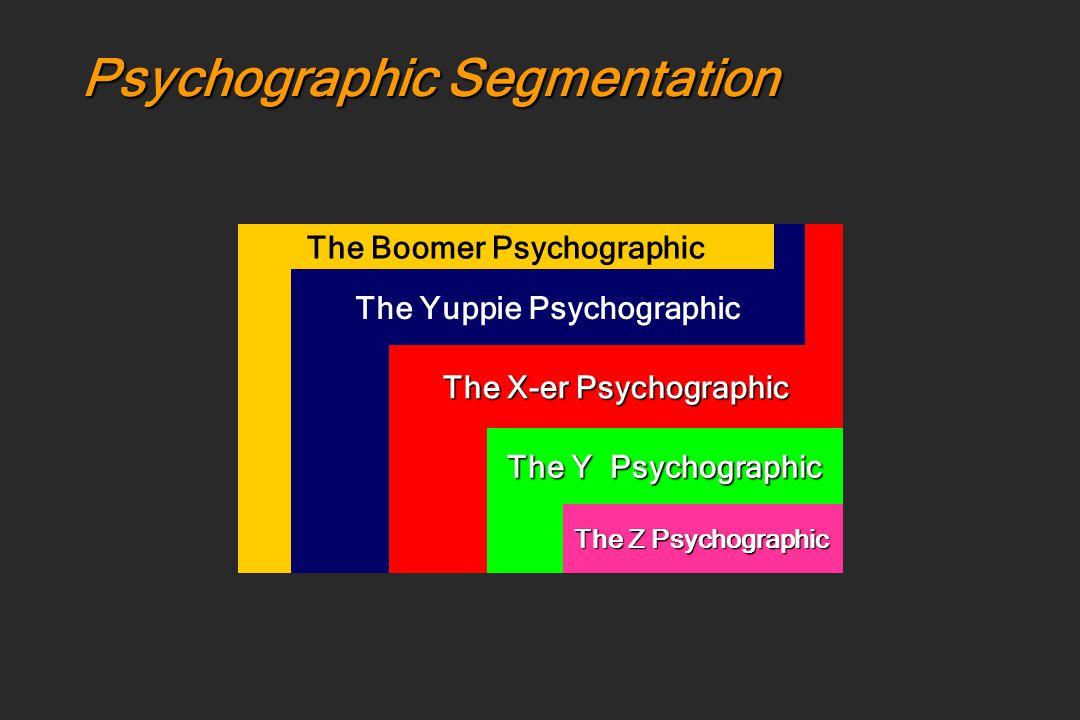 Psychographic Segmentation Thai Consumers The Boomer Psychographic The Yuppie Psychographic The X-er Psychographic The Y Psychographic The Z Psychogra