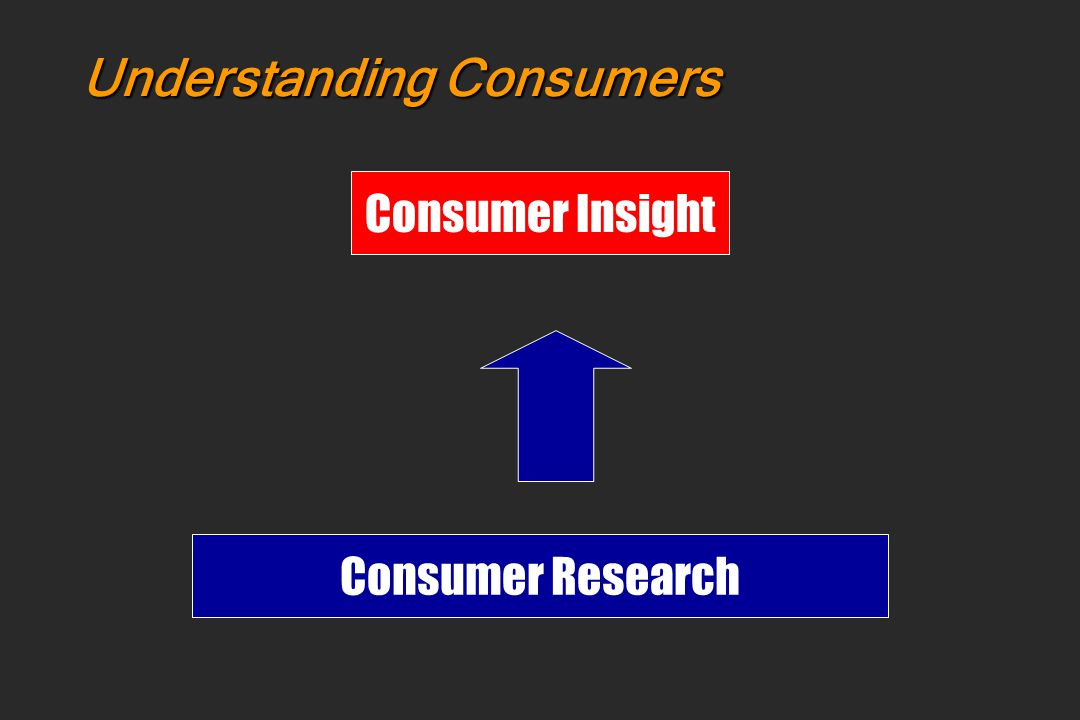 Understanding Consumers Consumer Insight Consumer Research