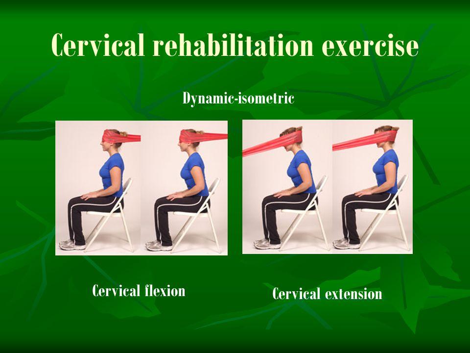 Cervical rehabilitation exercise Cervical flexion Cervical extension Dynamic-isometric