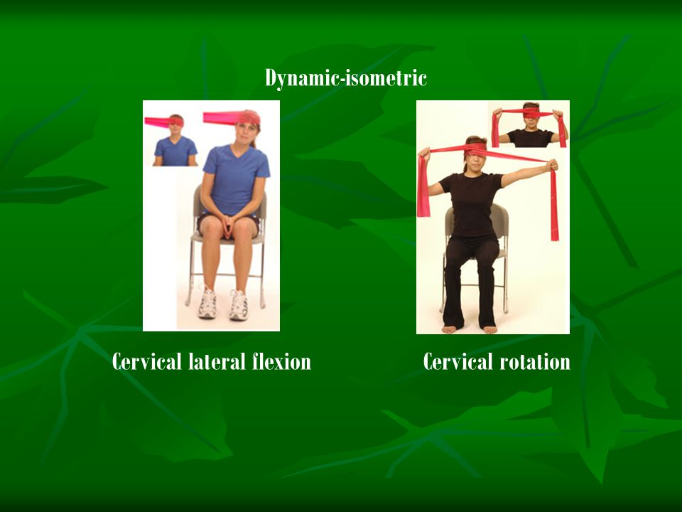 Cervical lateral flexionCervical rotation Dynamic-isometric