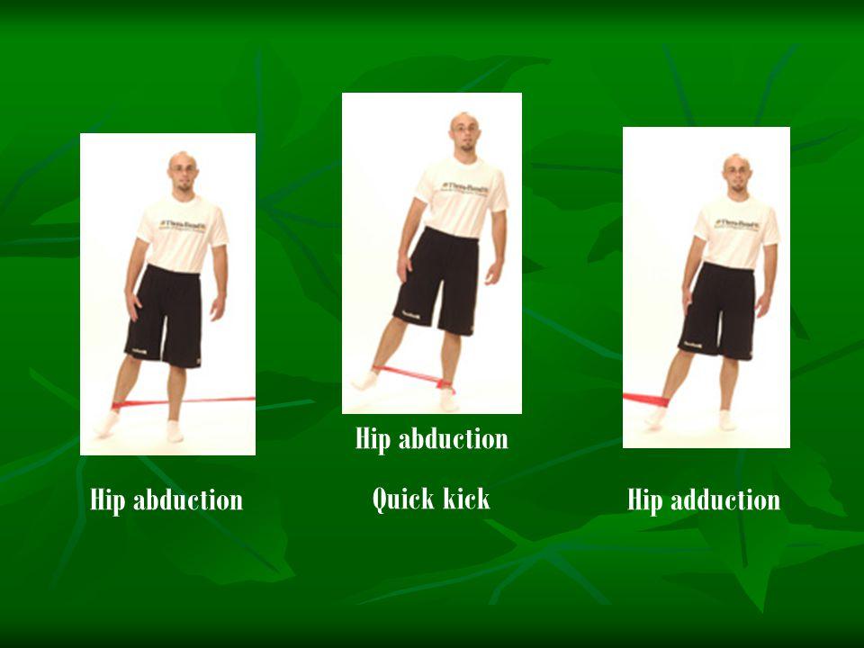 Hip abductionHip adduction Hip abduction Quick kick