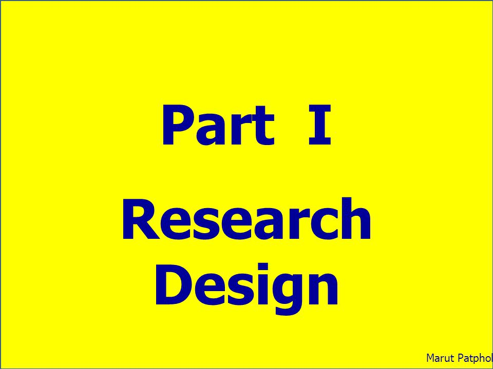 The Concepts of Learning 1.The definition of research design 2.