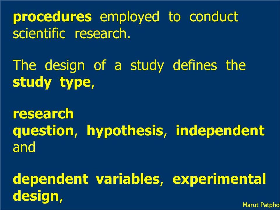 The Concepts of Learning 1.The Uniqueness of Experimental Research 2.