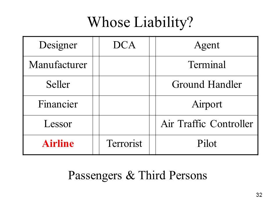 32 Whose Liability.