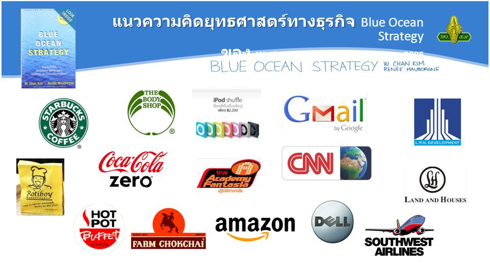 แนวความคิดยุทธศาสตร์ทางธุรกิจ แนวความคิดยุทธศาสตร์ทางธุรกิจ Blue Ocean Strategy ของ W. Chan Kim and Renee Mauborgne, 2005