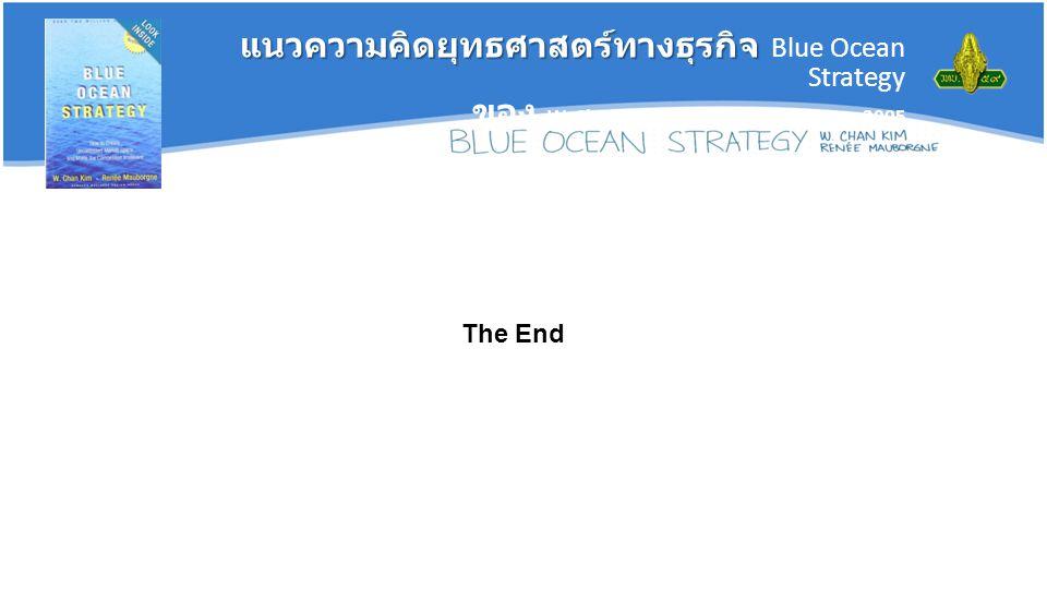 แนวความคิดยุทธศาสตร์ทางธุรกิจ แนวความคิดยุทธศาสตร์ทางธุรกิจ Blue Ocean Strategy ของ W. Chan Kim and Renee Mauborgne, 2005 The End