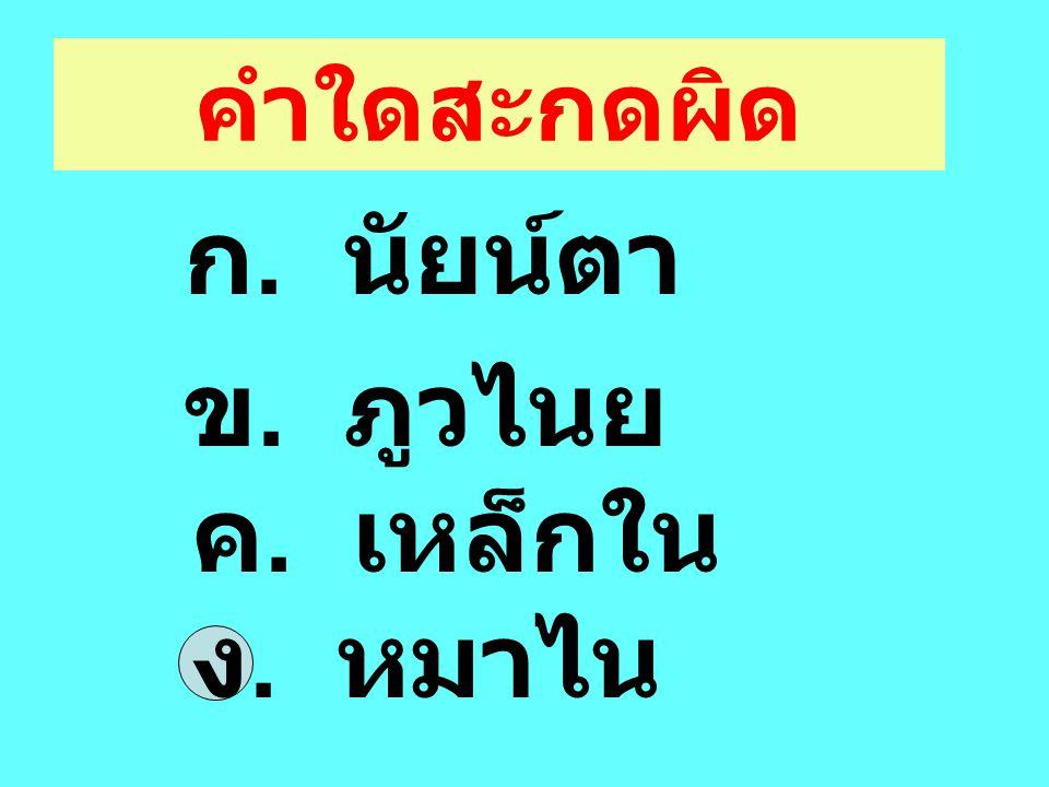 สนุกกับ ภาษาไทย โดย กลุ่มสาระการ เรียนรู้ ภาษาไทย ร. ร. นคร ไตรตรึงษ์