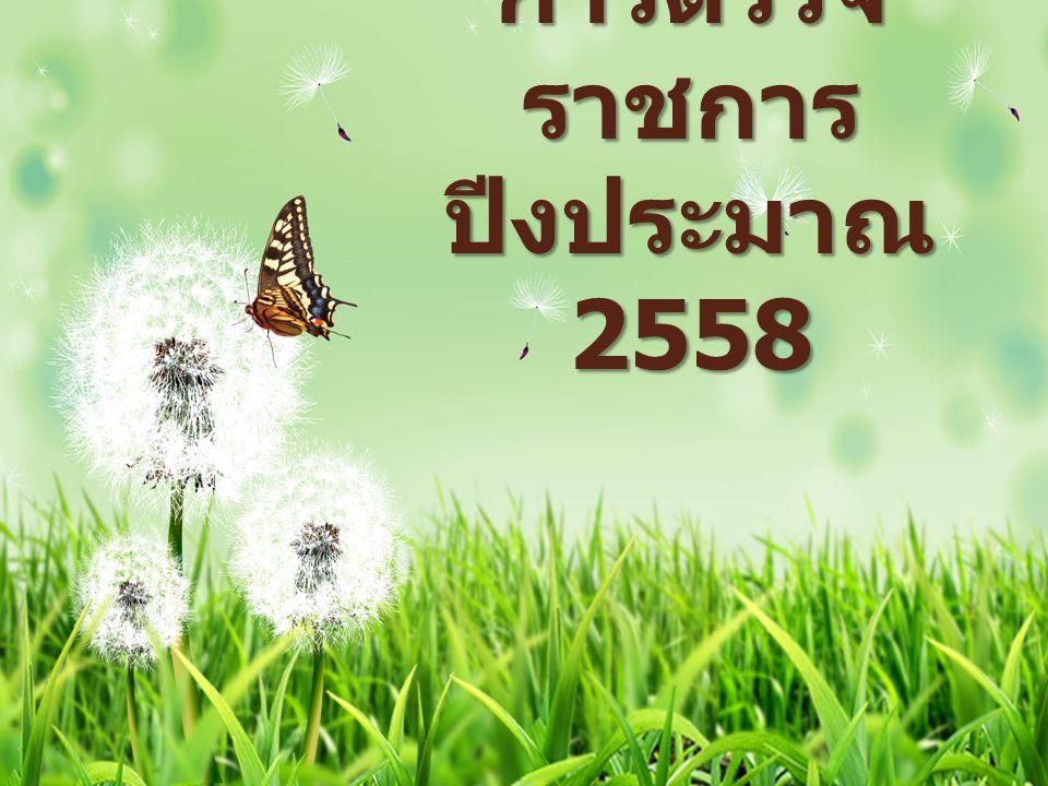 การตรวจ ราชการ ปีงประมาณ 2558