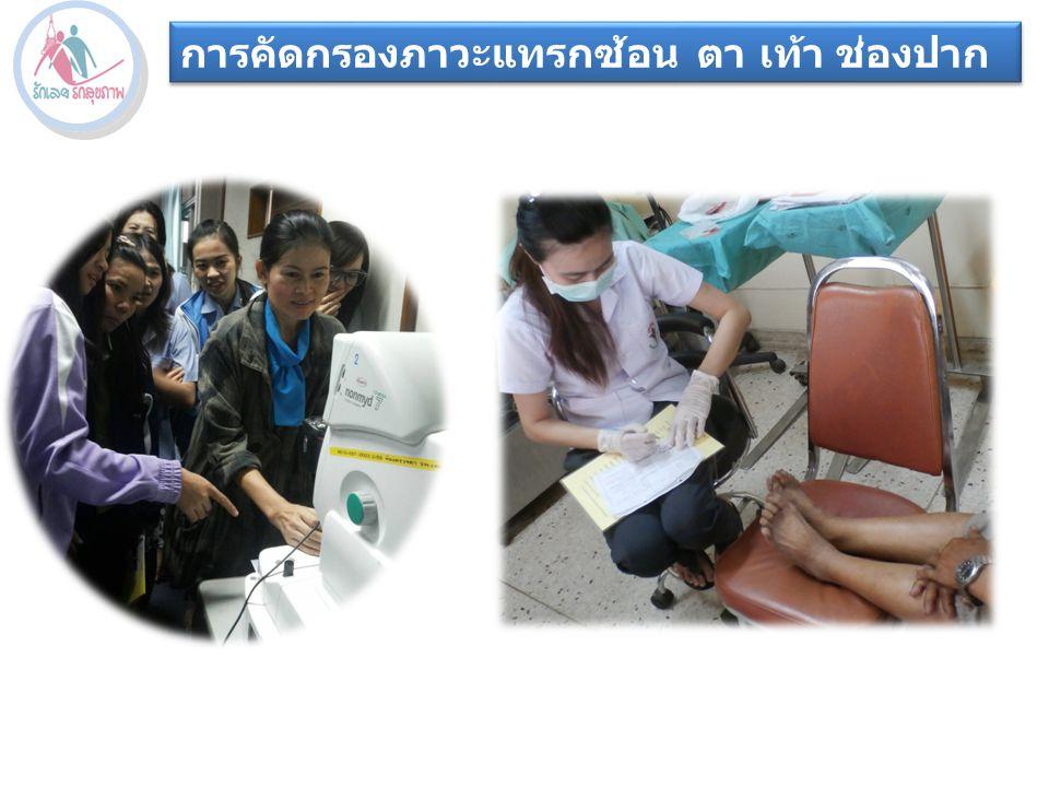 การคัดกรองภาวะแทรกซ้อน ตา เท้า ช่องปาก