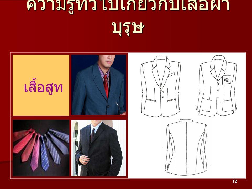 12 ความรู้ทั่วไปเกี่ยวกับเสื้อผ้า บุรุษ เสื้อสูท