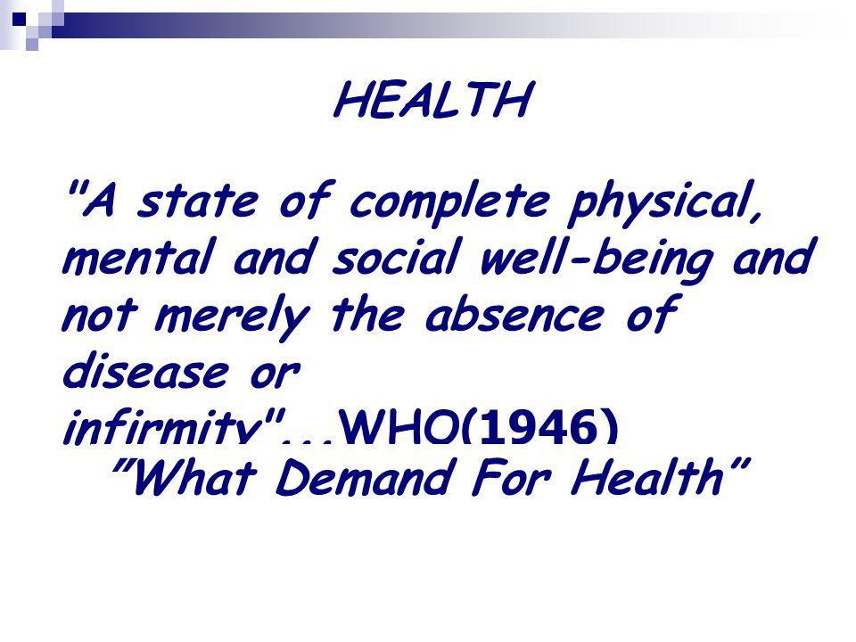  อุปสงค์ต่อการรักษาพยาบาล (Demand for Health Care) ระดับการรักษาพยาบาลที่ผู้บริโภค จะรับบริการ ณ ราคาต่างๆ กันของบริการ เป็นความจำเป็นที่ควรมี และความจำเป็นที่ตระหนัก
