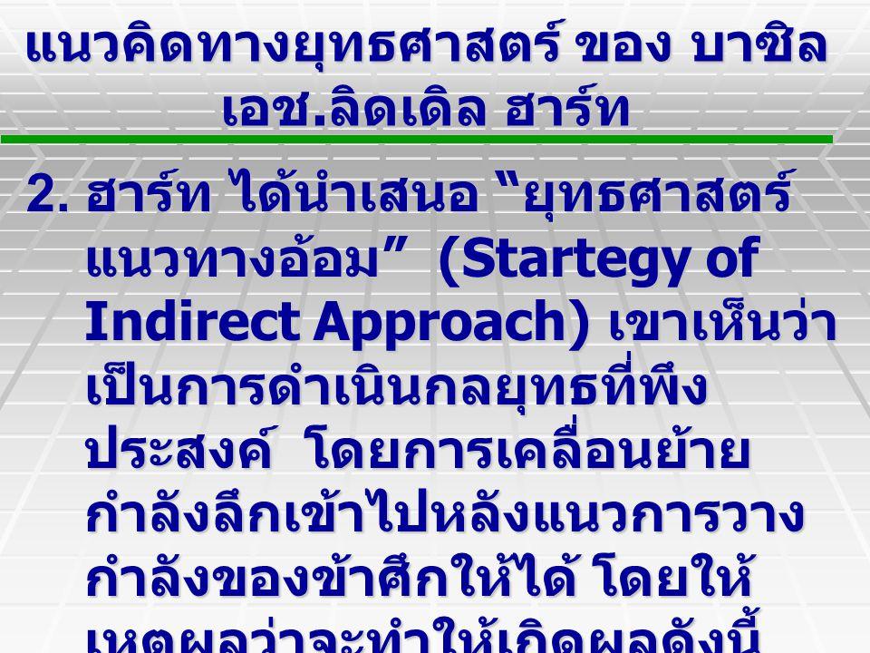 แนวคิดทางยุทธศาสตร์ ของ บาซิล เอช. ลิดเดิล ฮาร์ท 2.