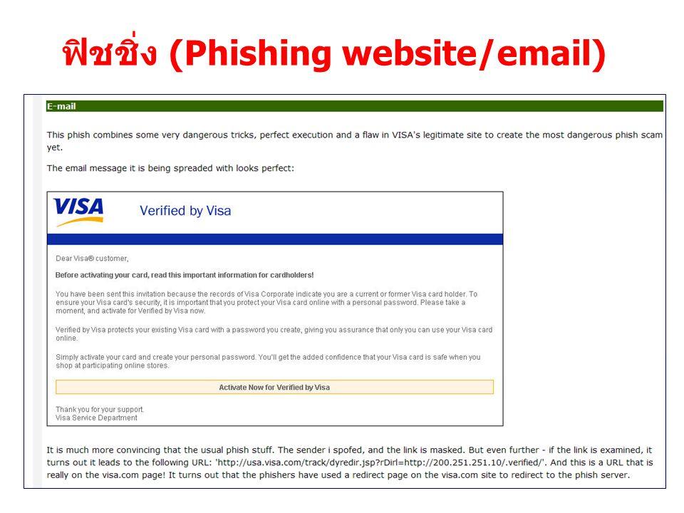 17 ฟิชชิ่ง (Phishing website/email)