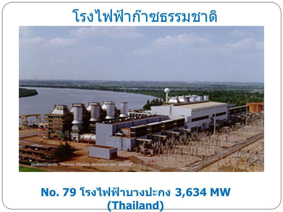 No. 79 โรงไฟฟ้าบางปะกง 3,634 MW (Thailand) โรงไฟฟ้าก๊าซธรรมชาติ