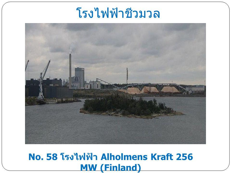 โรงไฟฟ้าชีวมวล No. 58 โรงไฟฟ้า Alholmens Kraft 256 MW (Finland)