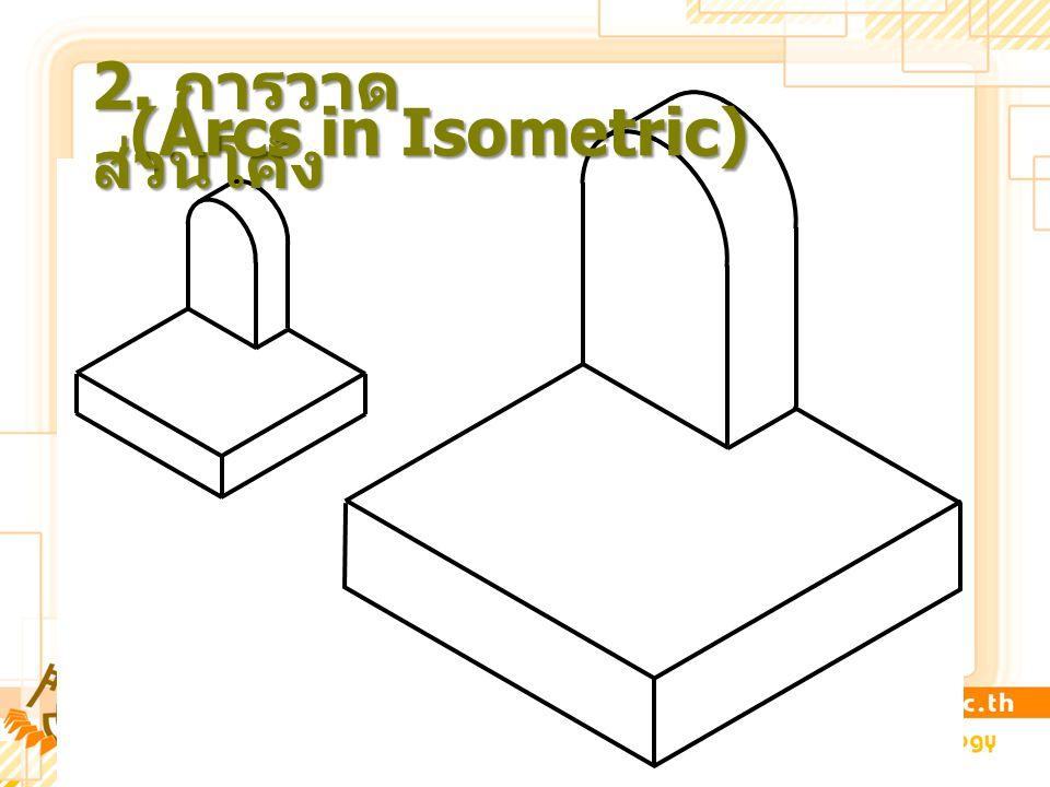 2. การวาด ส่วนโค้ง (Arcs in Isometric)